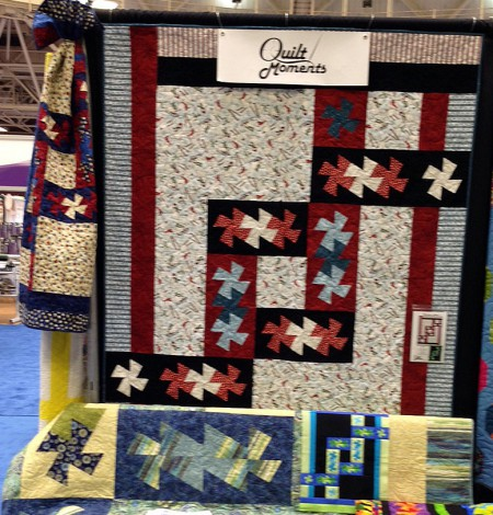 Quilt Market Mpls 2015 Twister Knot Throw & Twin QM142 Quilts