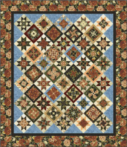 Kensington Kaleidoscope quilt pattern with Timeless Treasures fabric