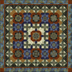 Petal Paradise quilt pattern with Timeless Treasures fabric