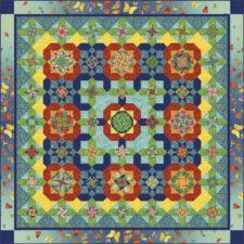 QM124-Petal-Paradise-coverquilt-queen-N-Rainforest